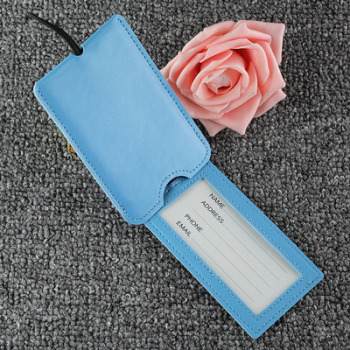 New Design Wholesale PU Travel Luggage Tag Custom Logo