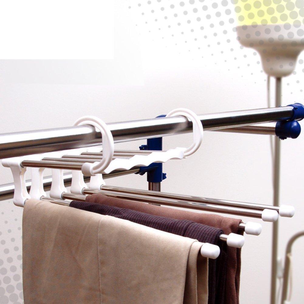 Multifunctional folding pants/Coat hanger/ stainless steel telescopic rack/ drying rack/Drying rack/Storage shelf -A