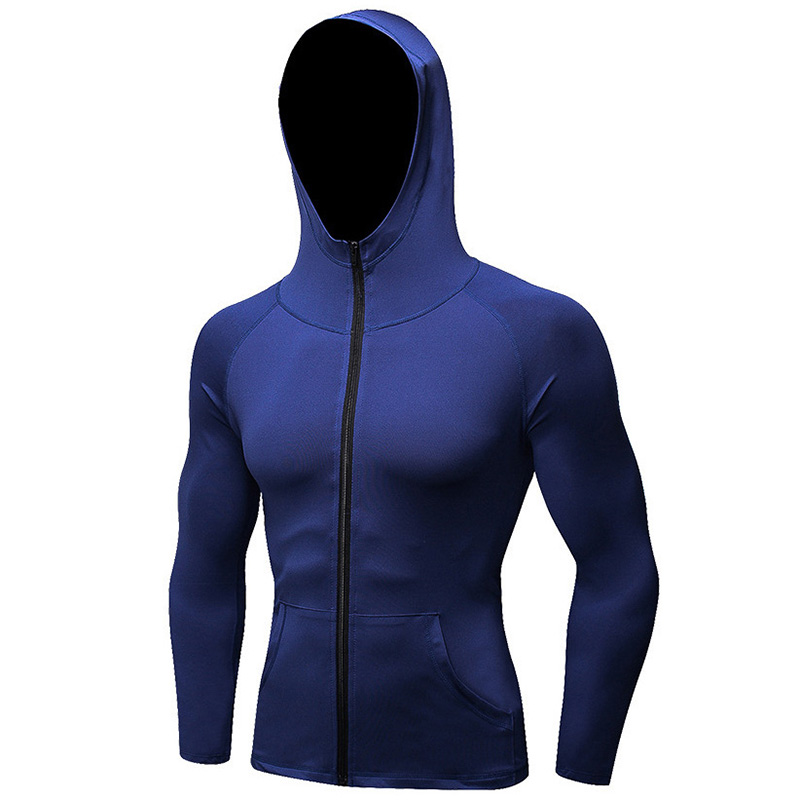 Sport Long sleeve Hoodie Men Jackets Jogging Cycling Milk Silk Gym Training Fitness Exercise Jacket