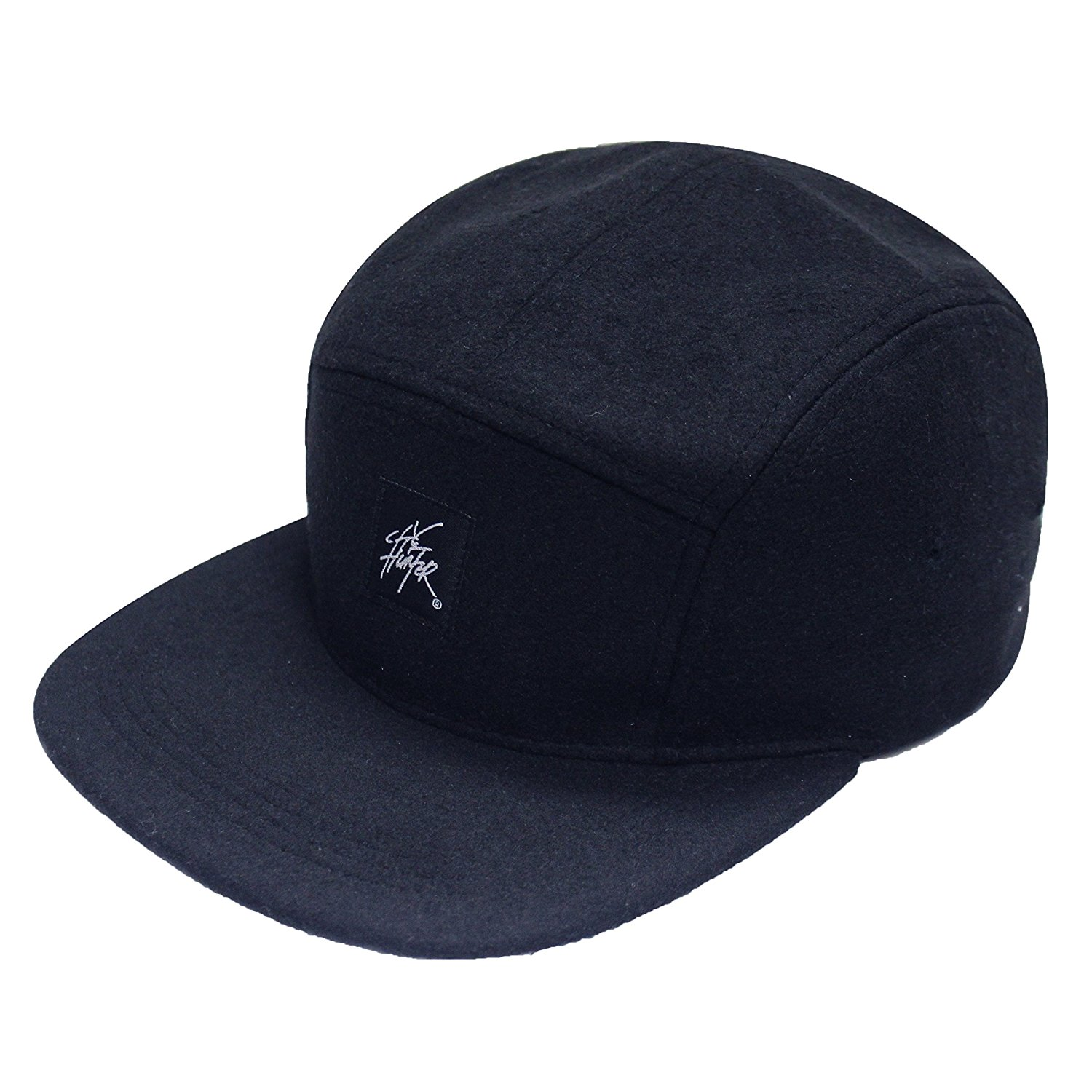 d631eeadffd Get Quotations · City Hunter Cn460 5 Panel Wool Leather 5 Panel Hat (40  Colors)