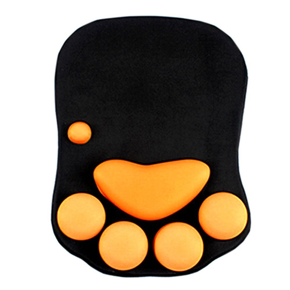 Kangkang@ Cute Cat Paw Soft Silicone Wrist Rests Wrist Cushion Desk Decor(7.810.7'') Three-dimensional Cat Claw Shape Silicone Mouse Pad