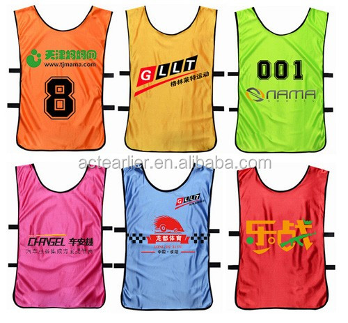Custom Design Reversible Mesh Team Soccer Football Training Vests ...