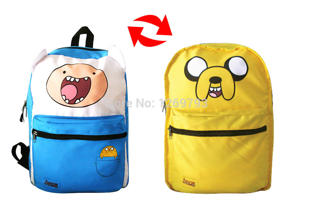 678f666caaa0 Get Quotations · Mochila Adventure Time Backpack adventure time school bag  children mochilas school kids 2-in-
