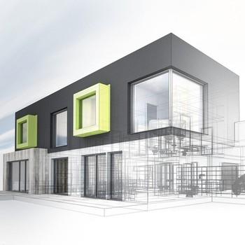 Bisini Städtischen Haus Design 3d Haus Architektur Rendering