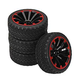 New 1/10 On-Road Rubber Tyre 4Pcs For HSP Tamiya Losi RC Car Tyre By KTOY