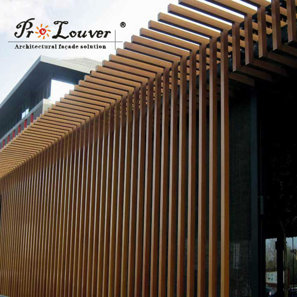 architectural vertical sun louver,box sun louver with difference