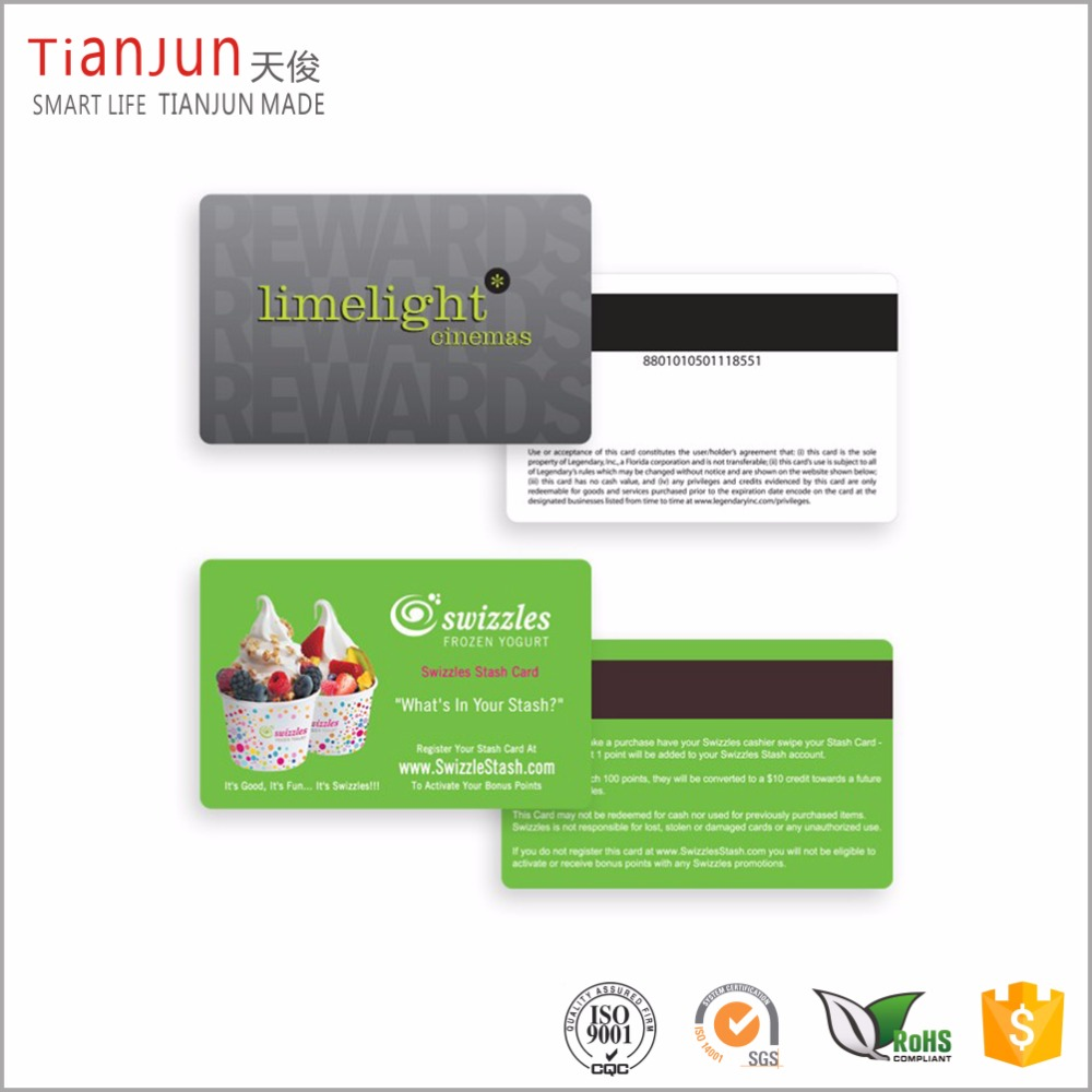 Offset printing customize best price magnetic stripe encoding gift cards
