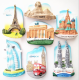 High Quality Perfect Workmanship Creative Unique World Famous Scenic Spot Fridge Magnet Egpt Moscow Paris London Dubai Malaysia