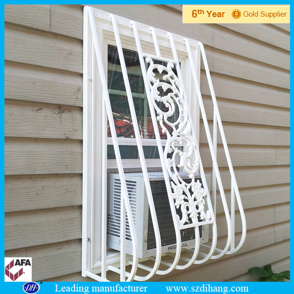 Aluminium window grill design aluminum window with grill for Window bars design