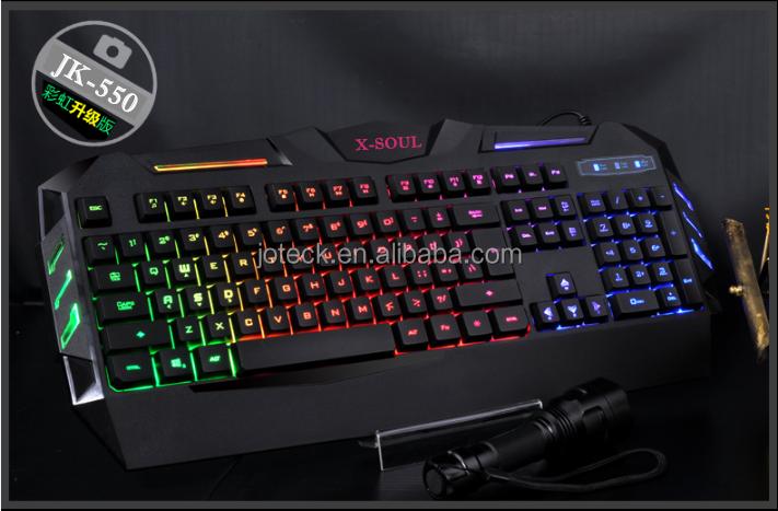 Toetsenbord Met Licht : Laatste neon licht transparante plastic gaming toetsenbord van de