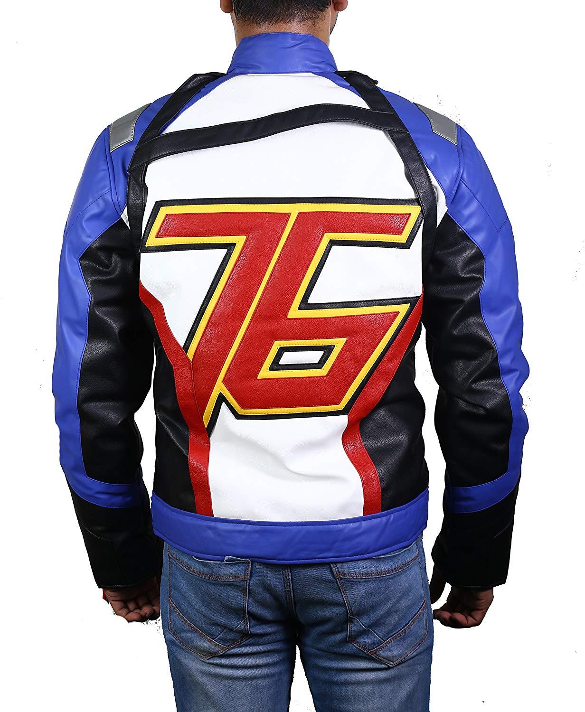 Overwatch Soldier 76 Motorcycle Jacket - Motorcycle Cosplay Halloween Cafe Racer Biker Jacket Mens