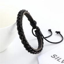 Женский кожаный браслет, плетеная подвеска ручной работы, подарочные украшения, 2019(Китай)