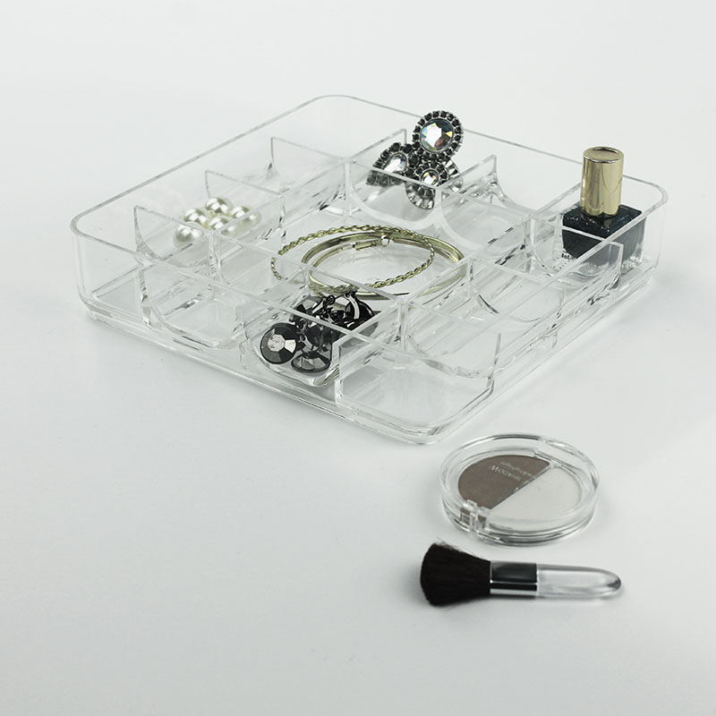 Acrylic Stacking Tray Jewelry Box With 13 Compartments