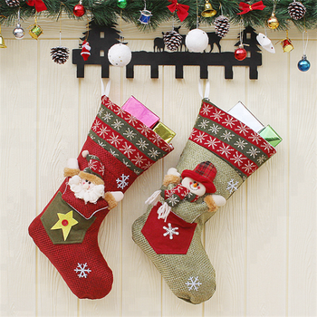 boutique christmas socks gift bag christmas decorations party decorations windows and doors decorations new christmas socks - Christmas Decorations For Front Windows