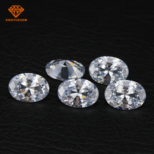 Wholesale 8mm*10mm Oval cut white diamond color AAA CZ Stones