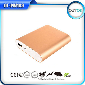 Shenzhen electronic products universal aluminum power bank 8800mah