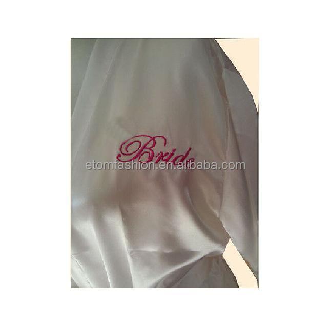 White Satin Bride Robe Bridal Dressing Gown Wedding Bridal Gift ...
