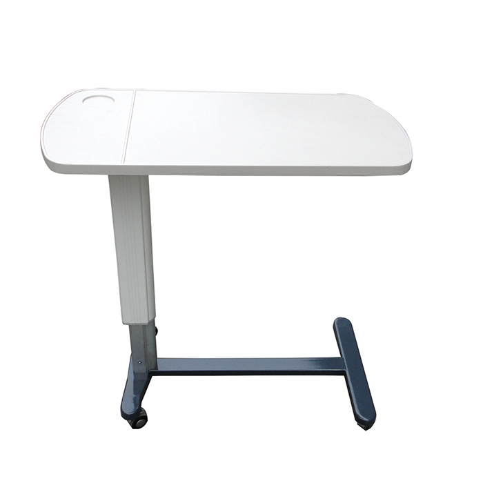 Height Adjust Mobile Over The Bed Wooden Tray Table
