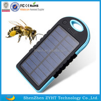 2016 New Real Capacity 4000mAh Portable USB Solar Energy power bank for mobile with LED light