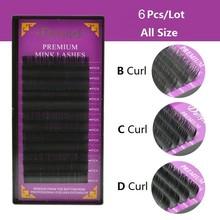 0.07 / 0.10 / 0.15 / 0.20 / 0.25 extensão dos cílios individuais alta qualidade Natural cílios vison pestana extensão frete grátis