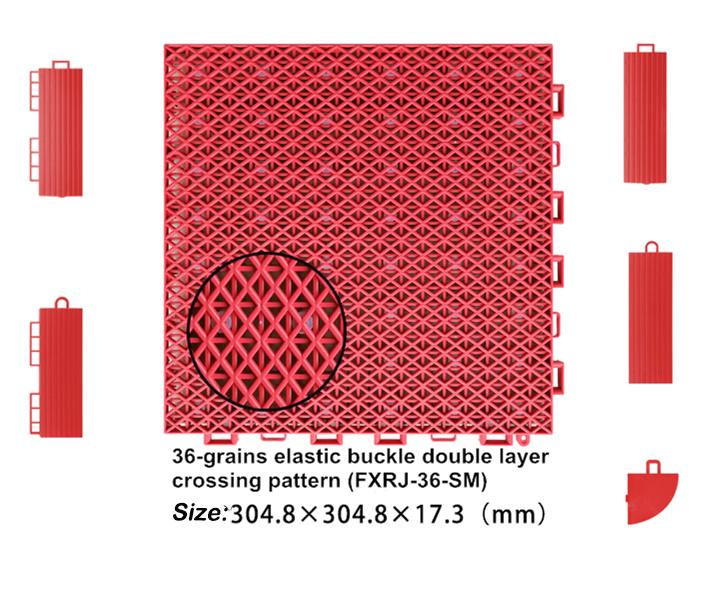 Pp bloqueio ao ar livre portátil de plástico sintético mat piso de quadra de vôlei de construção