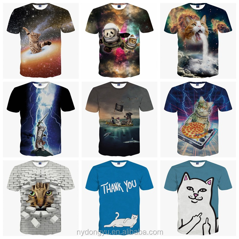 Men outdoor 3d printed t shirts sxe 3d cat breathable playing basketball t shirts tee