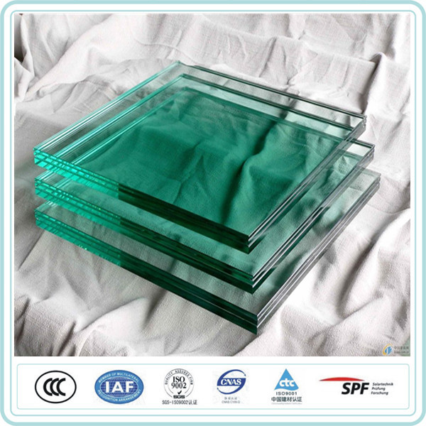 4mm-19mm laminated safety tempered glass for building windows sound insulation
