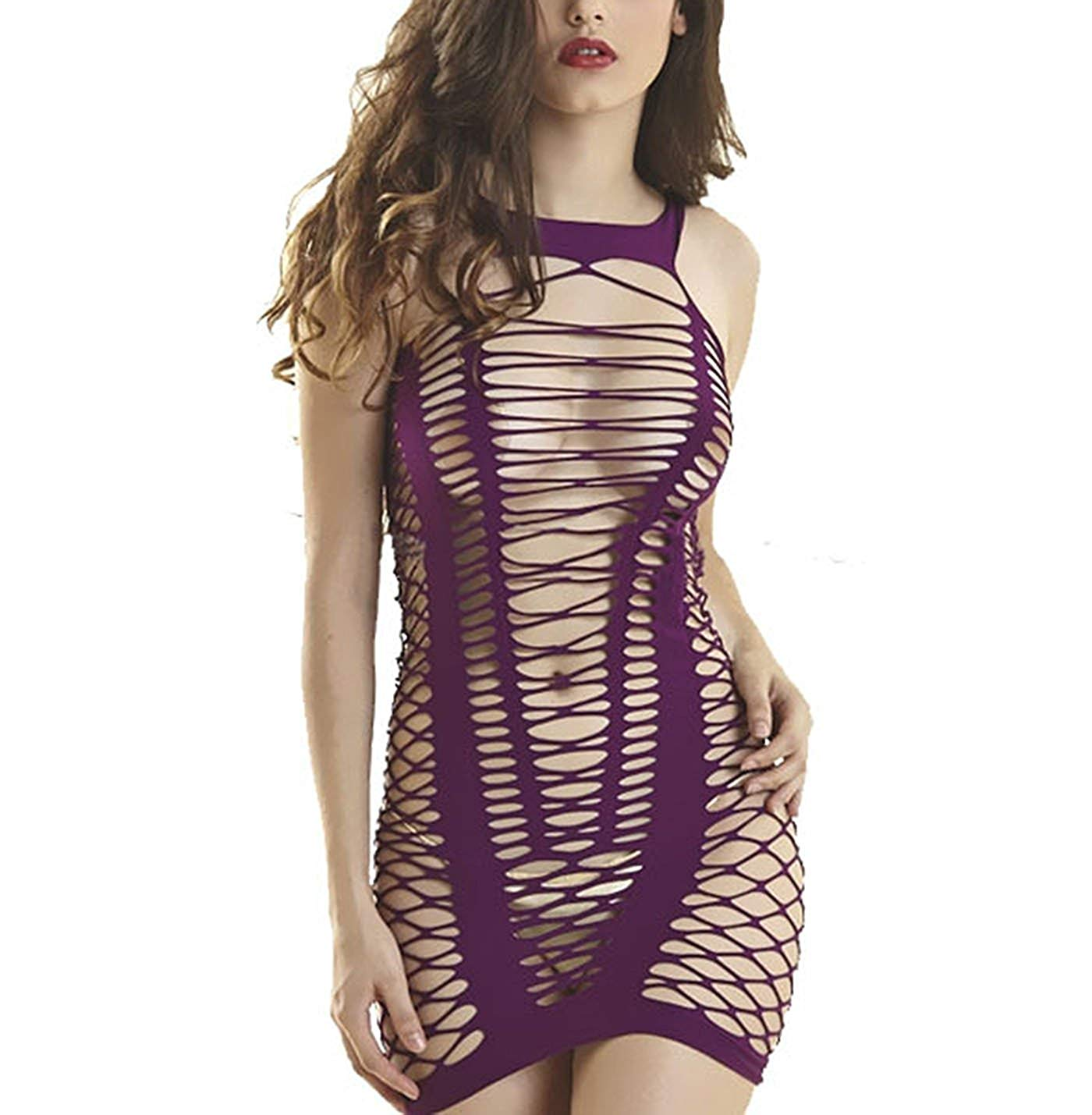 5193777154 Get Quotations · Davidsly Women Mesh Chemise Lingerie stretchy fabric  Dress