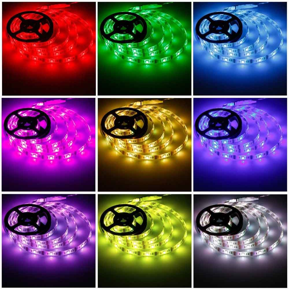 Battery Powered Led Strip Lights,Geekeep Waterproof Flexible LED Light Strips SMD 5050 LED Ribbon Light Mood Light (1M/3.28ft, RGB)