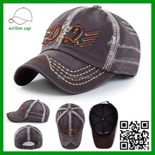 High Quality Washed Reclaimed Vintage 3D Embroidery Cheap Distressed Baseball Cap