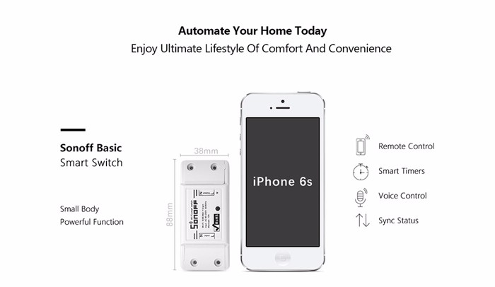 Fabriek smart switch homekit wifi smart home sonoff Basic