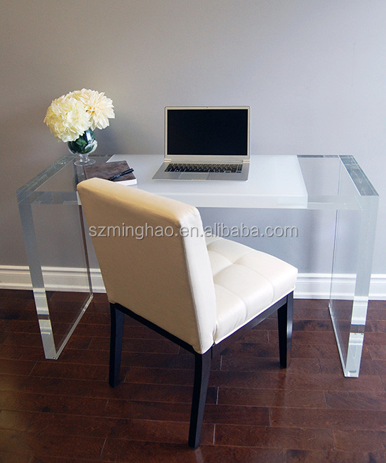 Lucite White Desk Acrylic For