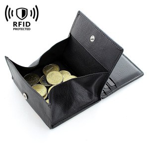 Boshiho Top grain leather Magic Wallet with coin pocket wallet men rfid
