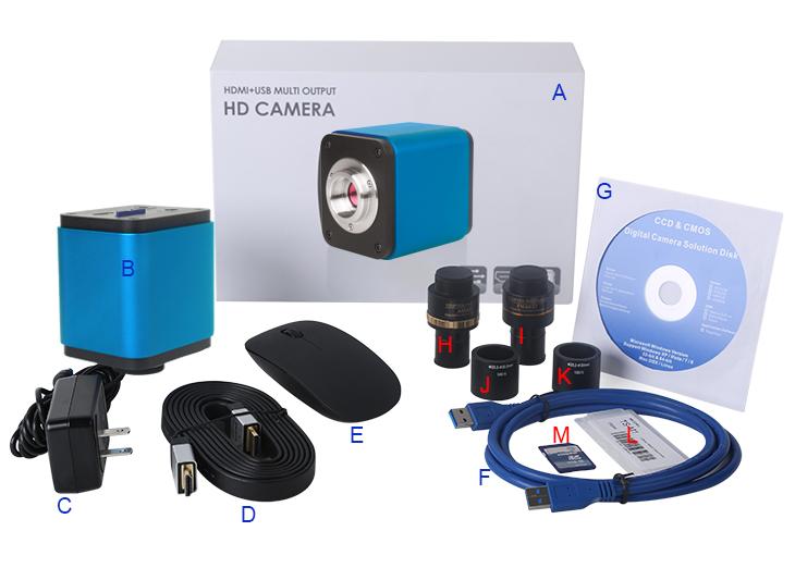 P hdmi usb sd mikroskop kamera mit sony sensor buy