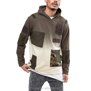 China factory customized wholesale men clothings clothing pullover over blank hoodies customizable men with no labels
