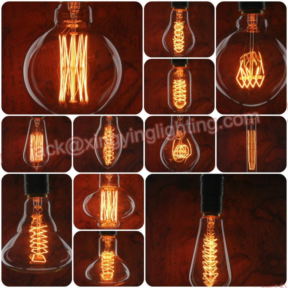edison bulb vintage carbon filament light bulbs in edison bulb shape - Antique Light Bulbs
