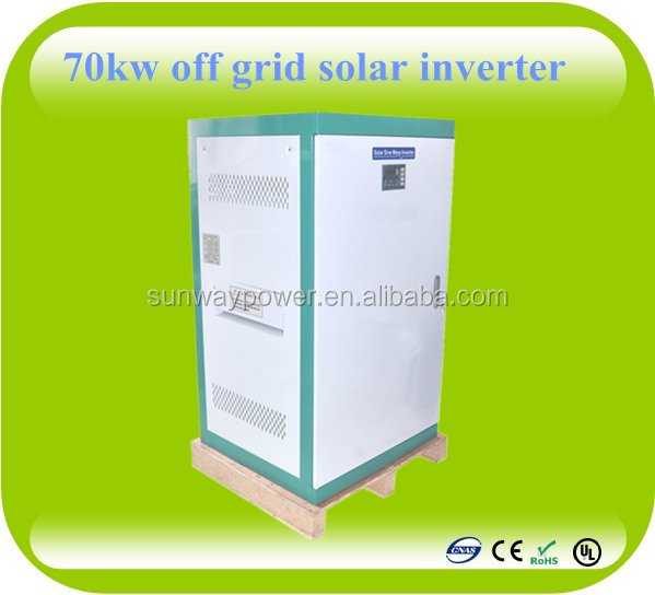 Pure sine wave off grid 3 phase solar battery charger inverter 70kw