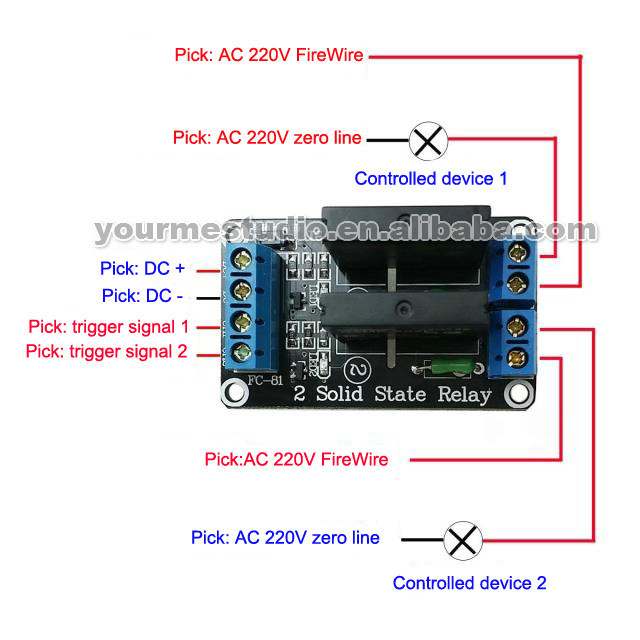 Wholesale 2 Channel 5v High Solid State Relay Modules With