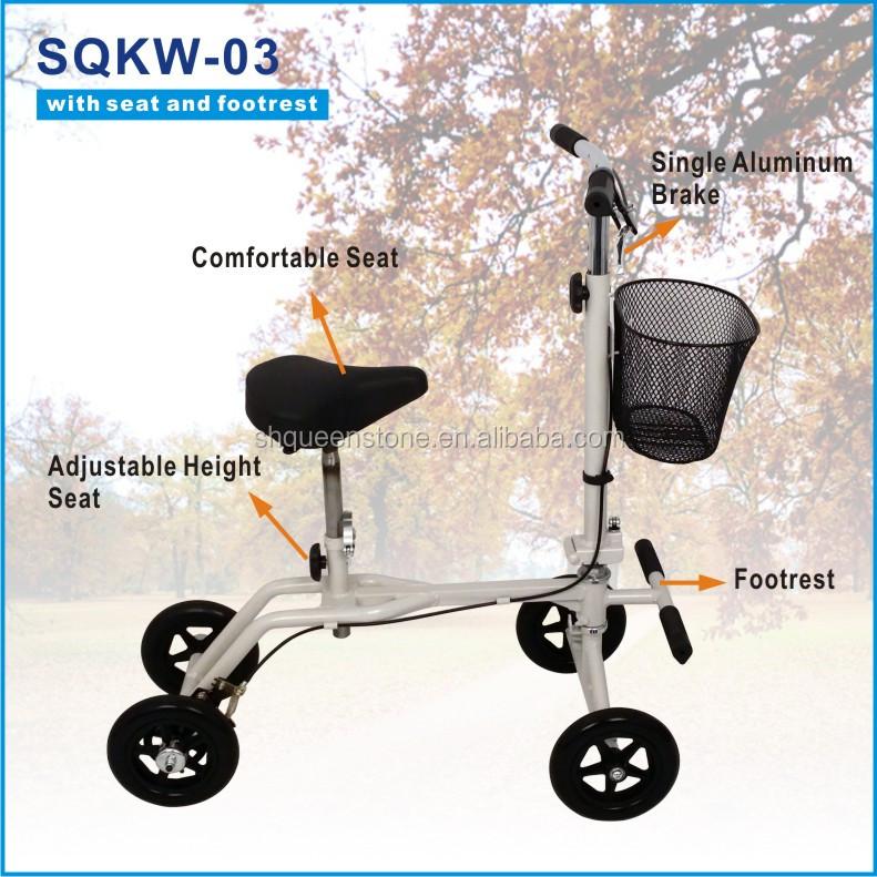 Unidad Médica Rodilla Scooter De Aluminio Plegable Andador Con Pu ...