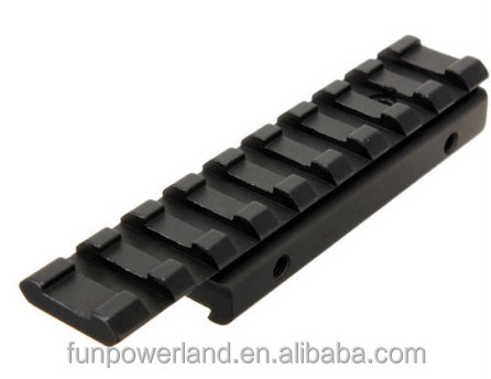 Funpowerland Low Profile Dovetail Rail Extension 11mm to 20mm Weaver Adapter Converter Scope Mount Base