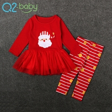 New design fashion winter long sleeve baby clothing sets newborn christmas outfit girls W019