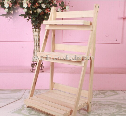Colored Wooden Flower Stands For Living Room / Wood Flower Stand ...