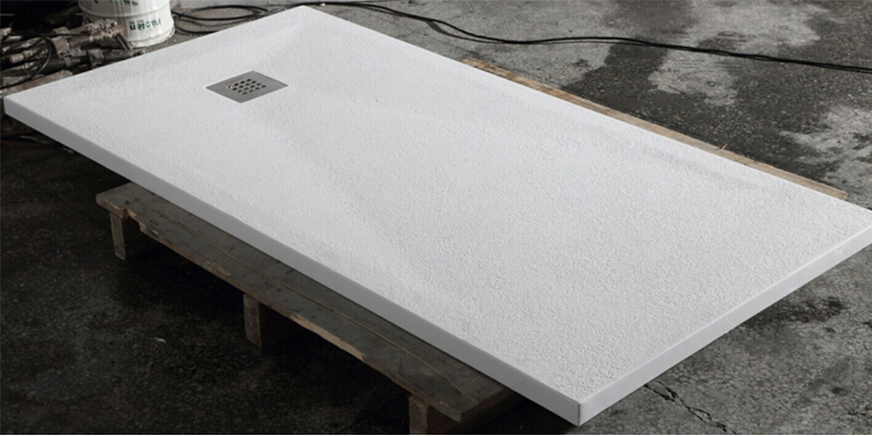 Acrylic Solid Surface Pmma Resin Flat Shower Pan With A Drain Corver