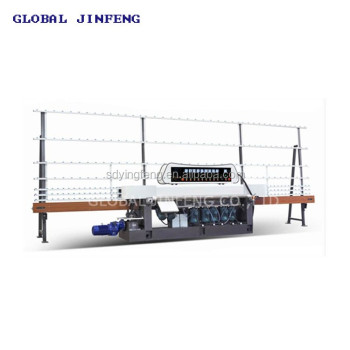 JFE-9243 9 Grinding head Straight line edge glass polishing machine for flat glass with CE certificate