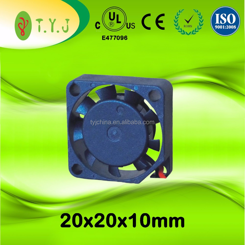 20x20x10mm 15000rpm 3.3v 5v 12v micro fan 20mm 2010 plastic dc cooling fan