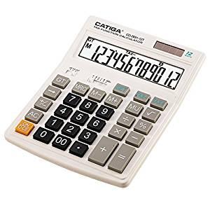 CATIGA Deluxe Series- Jumbo Calculator - 12-Digit / Extra Large Display Desktop Calculator-White