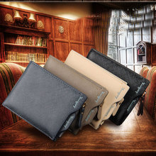 2018 High quality smart minimalist wallet baellerry men pu leather wallet case