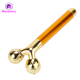 Micro electrical 24k gold facial beauty bar Roller massager energy gold bars