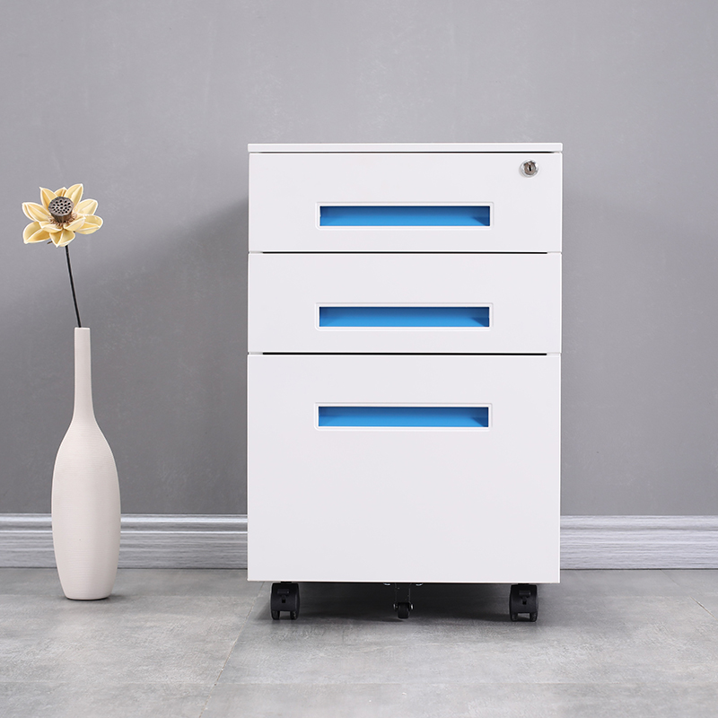 Pre Embled Save E Bedroom Small 3 Drawer Steel Mobile Pedestal A3 File Cabinet Drawers Metal Lock