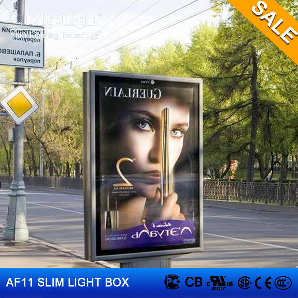 Edgelight AF11 double sided outdoor light box , acrylic panel aluminum profile , CE ROHS UL listed advertising <strong>LED</strong> <strong>display</strong>